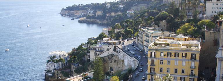 Naples city panorama