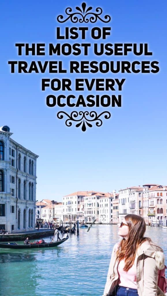 List of the most useful travel resources