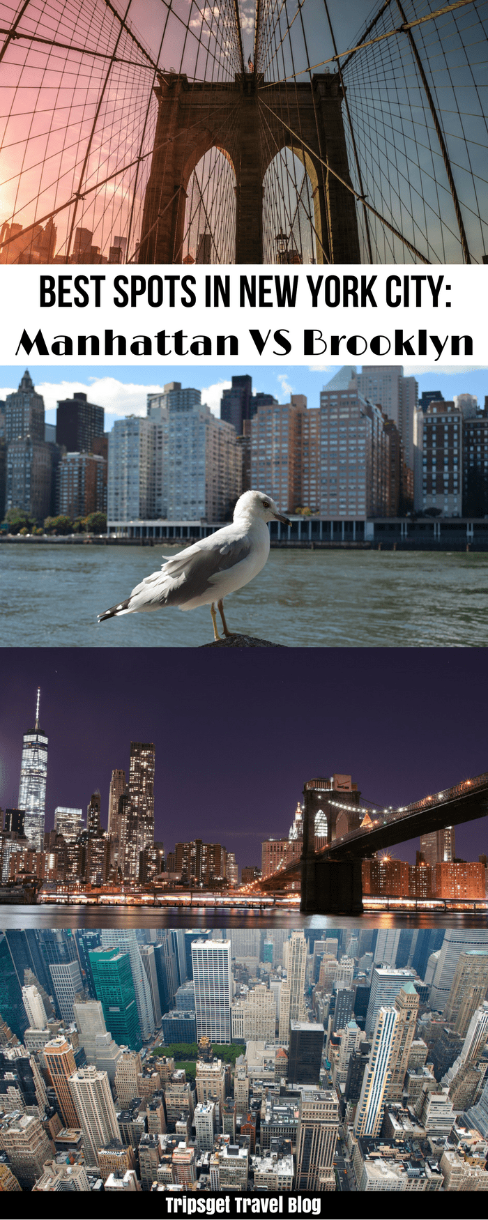 NYC best spots to visit. BEst spots in New York City. Mahattan vs brooklyn. Coney Island, Top of the Rock, Moma, Empire State Building, Highline Park, Williamsburg, DUMBO, Brooklyn Bridge