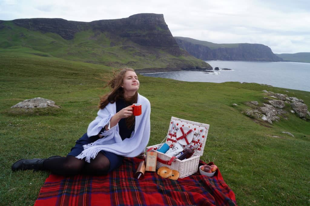 Picnic at the Neist Point, The Isle of Skye, Scotland