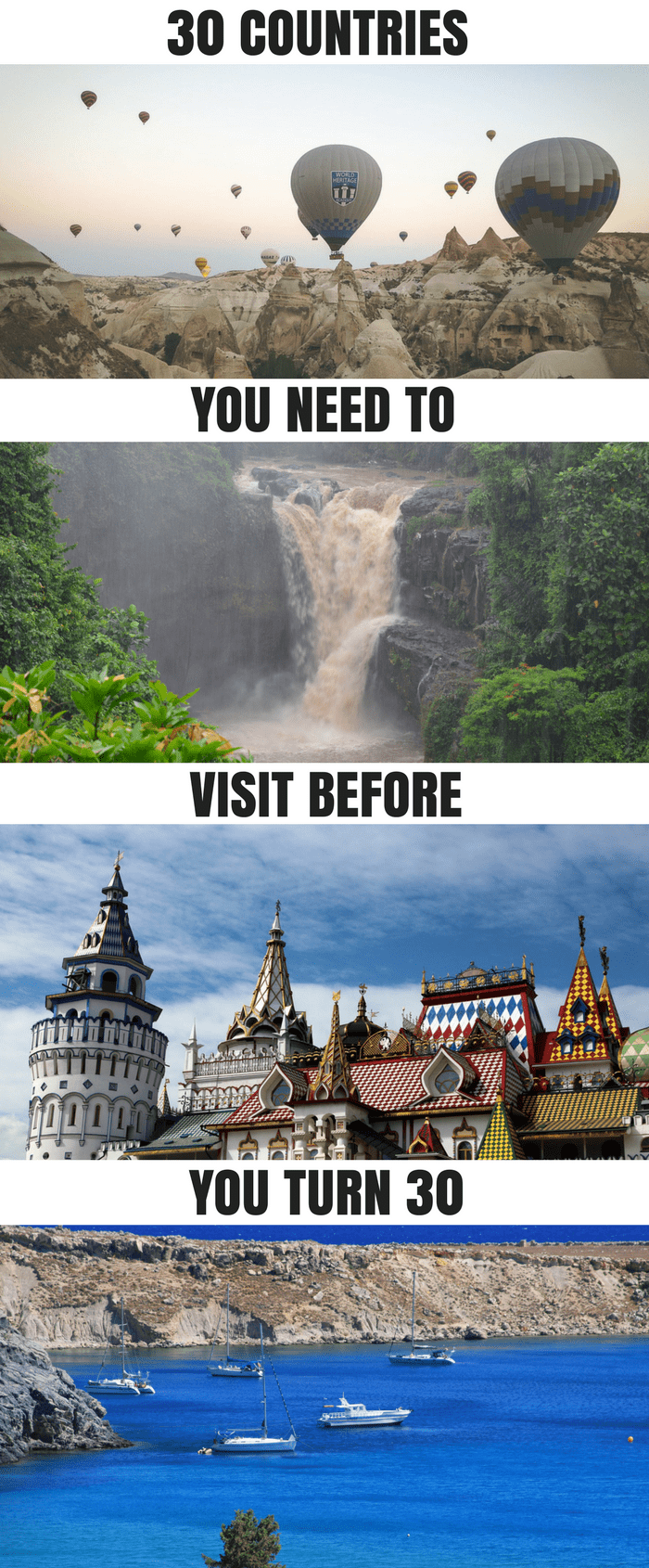 30 countries you should visit before you turn 30: Cuba, Argentina, Russia, Turkey, Indonesia, Cambodia, Peru, India, Italy, France, Germany, Vietnam