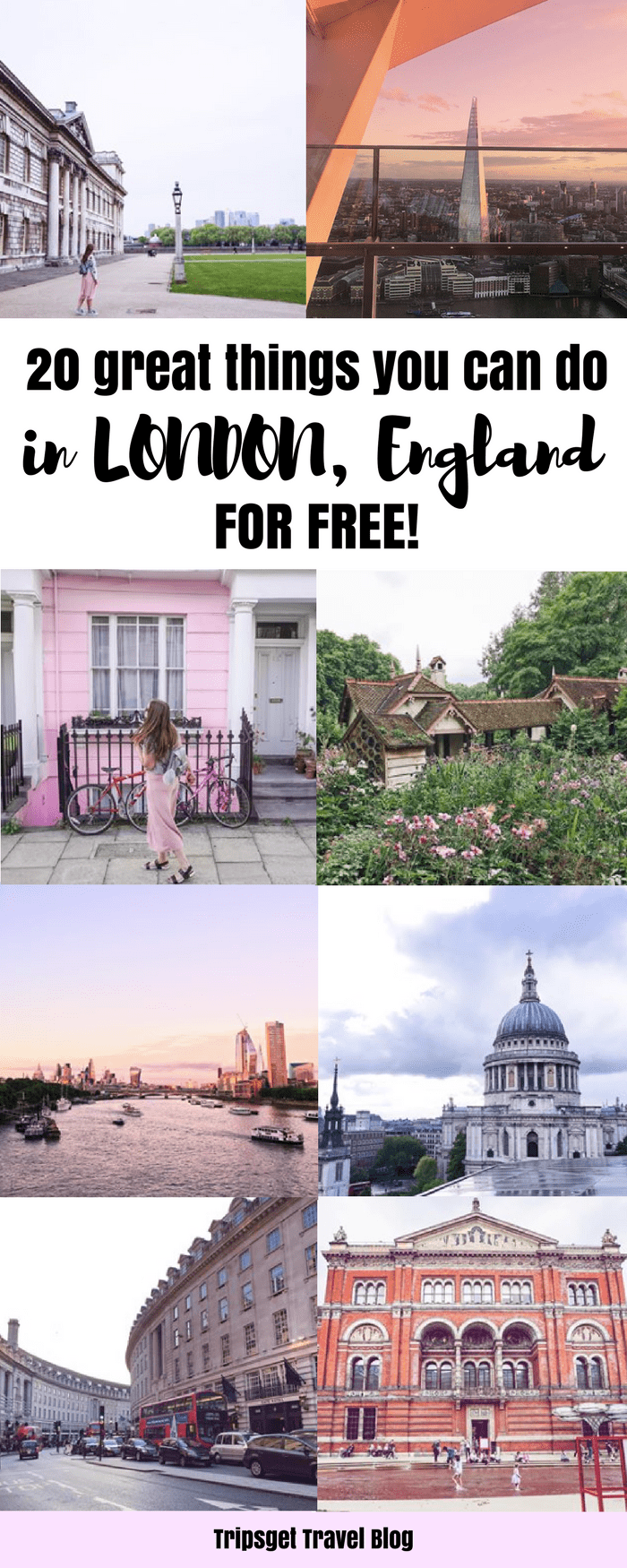 20 amazing things to do in London for free! Free things to do in London, England