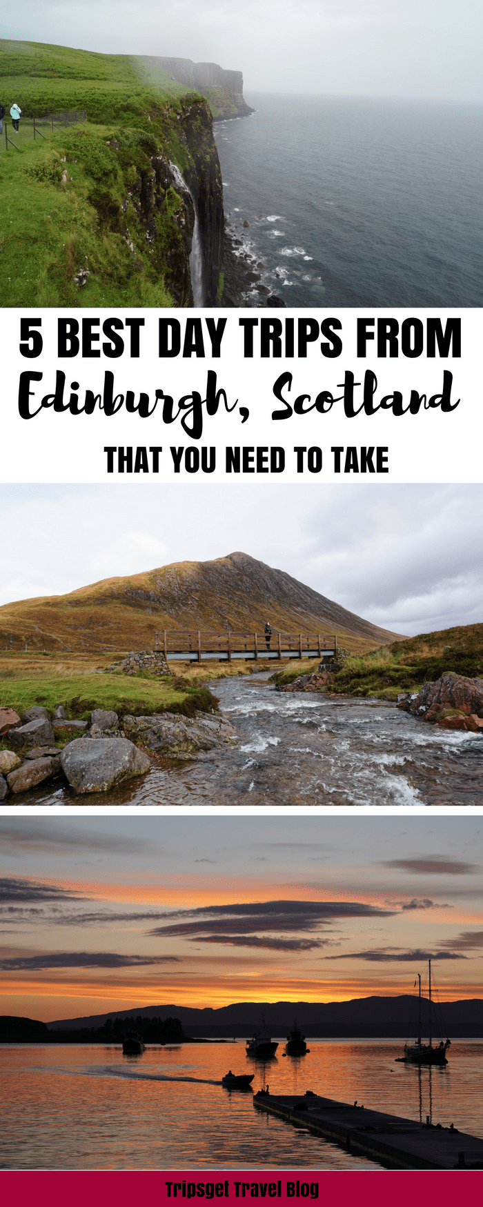 Best day trips from Edinburgh, Scotland. Edinburgh day trips. Edinburgh excursions and tours