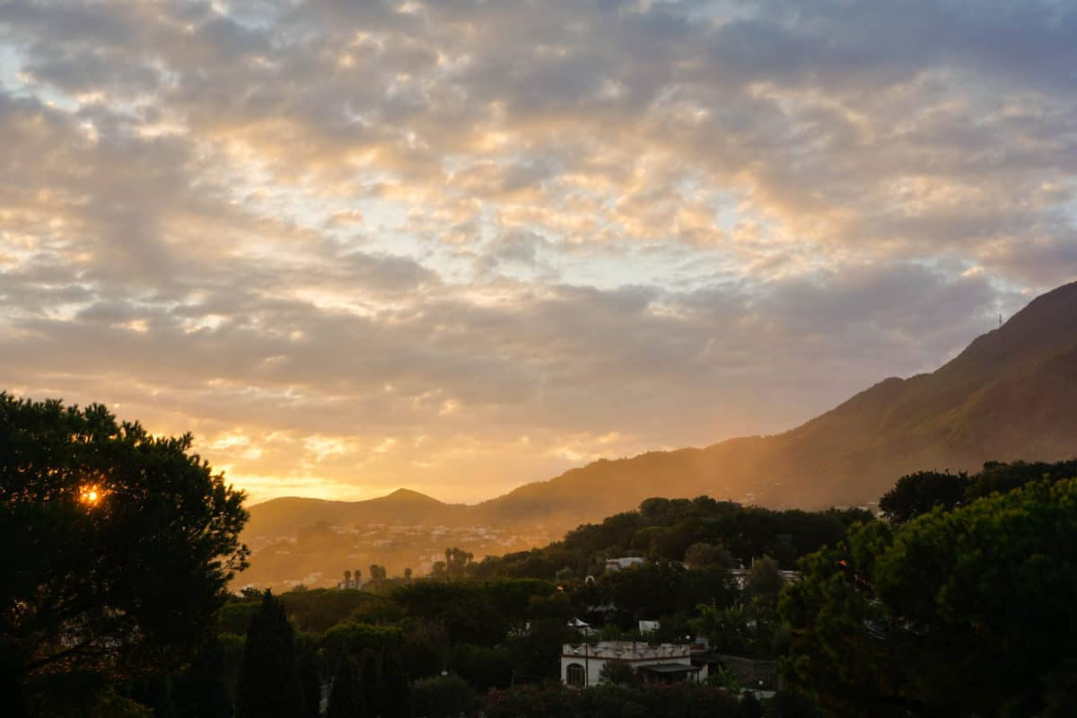 Sunrise in Garden and Villas Ischia