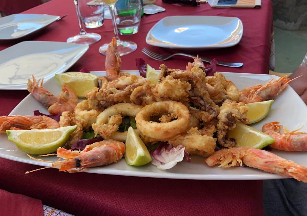 Seafood in Ischia, Italy